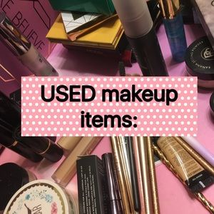 USED makeup items: